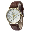 Simple Style Roman Numerals Anchor Pattern Watch 150505 Coffee