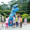 Inflatable T-rex Fancy Suit Novelty Pretended Dinosaur Costume Adult Size